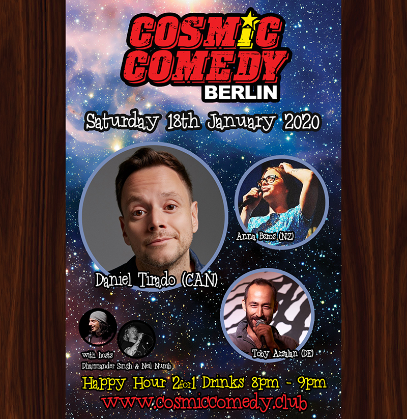 Cosmic Comedy Club with Daniel Tirado (Canada)